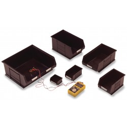 Topstore Black Anti-Static TC Semi-Open Fronted Containers