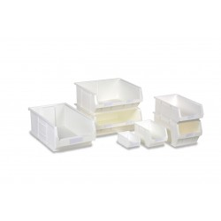 Barton Topstore White Antibacterial TC Semi-Open Fronted Containers