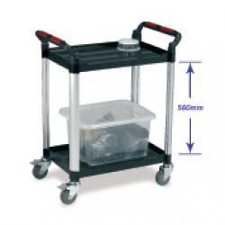 2 Shelf Utility Tray Trolley
