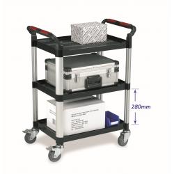 3 Tier Plastic Utility Tray Trolley