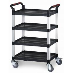 4 Shelf Plastic Utility Tray Trolley